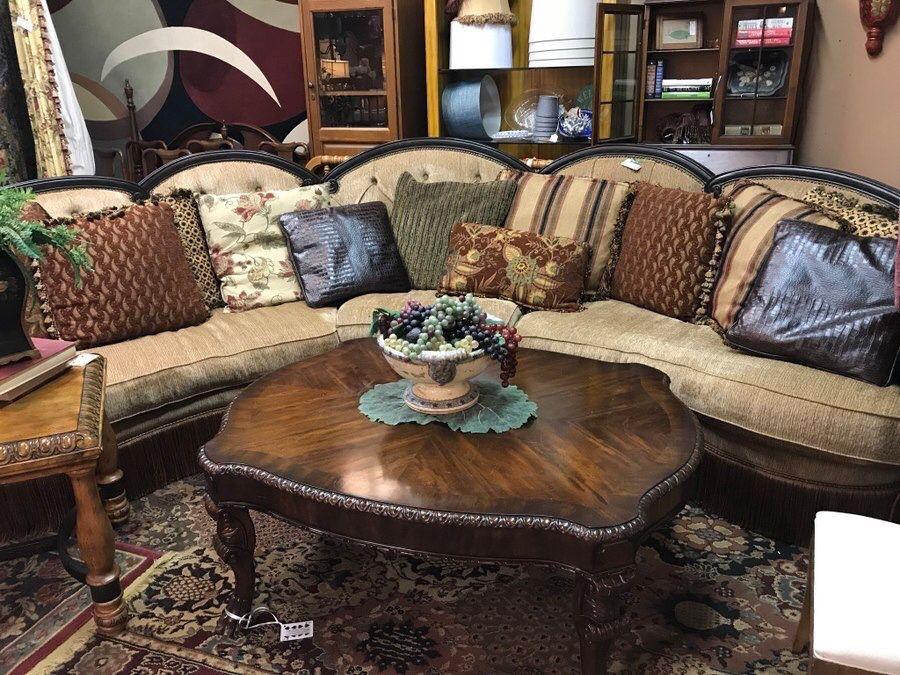 Markor International 3 Piece Curved, Consignment Furniture Tulsa Oklahoma