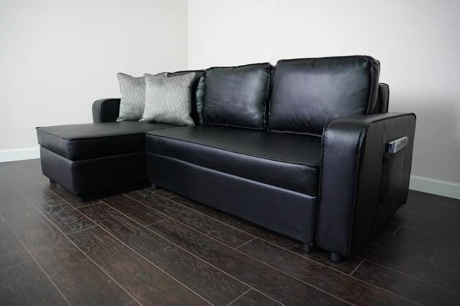 New Black / Brown Sofa Sleeper Chaise