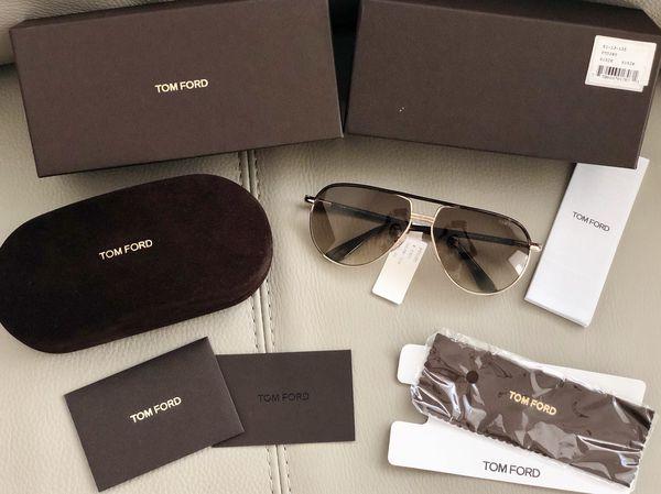 87f5f4567 Tom Ford Cole 61MM Aviator Sunglasses TF285 52K, Gold Dark Havana,  Gradient, UNISEX, NIB
