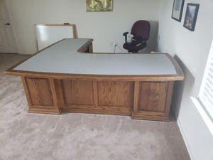 Large Solid Oak Executive Desk for sale  Fayetteville, AR