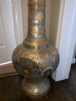 Real brass antique vase Thumbnail