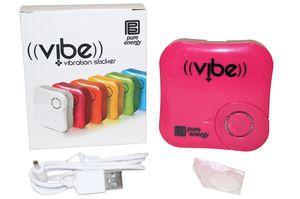 Photo Pure Energy Vibe - Vibration Speaker Sticker Pink