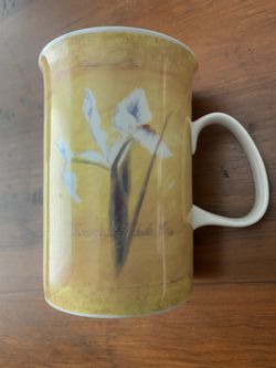 Ashdene of Australia Bone China mug Yellow floral Iris / Rose Thumbnail