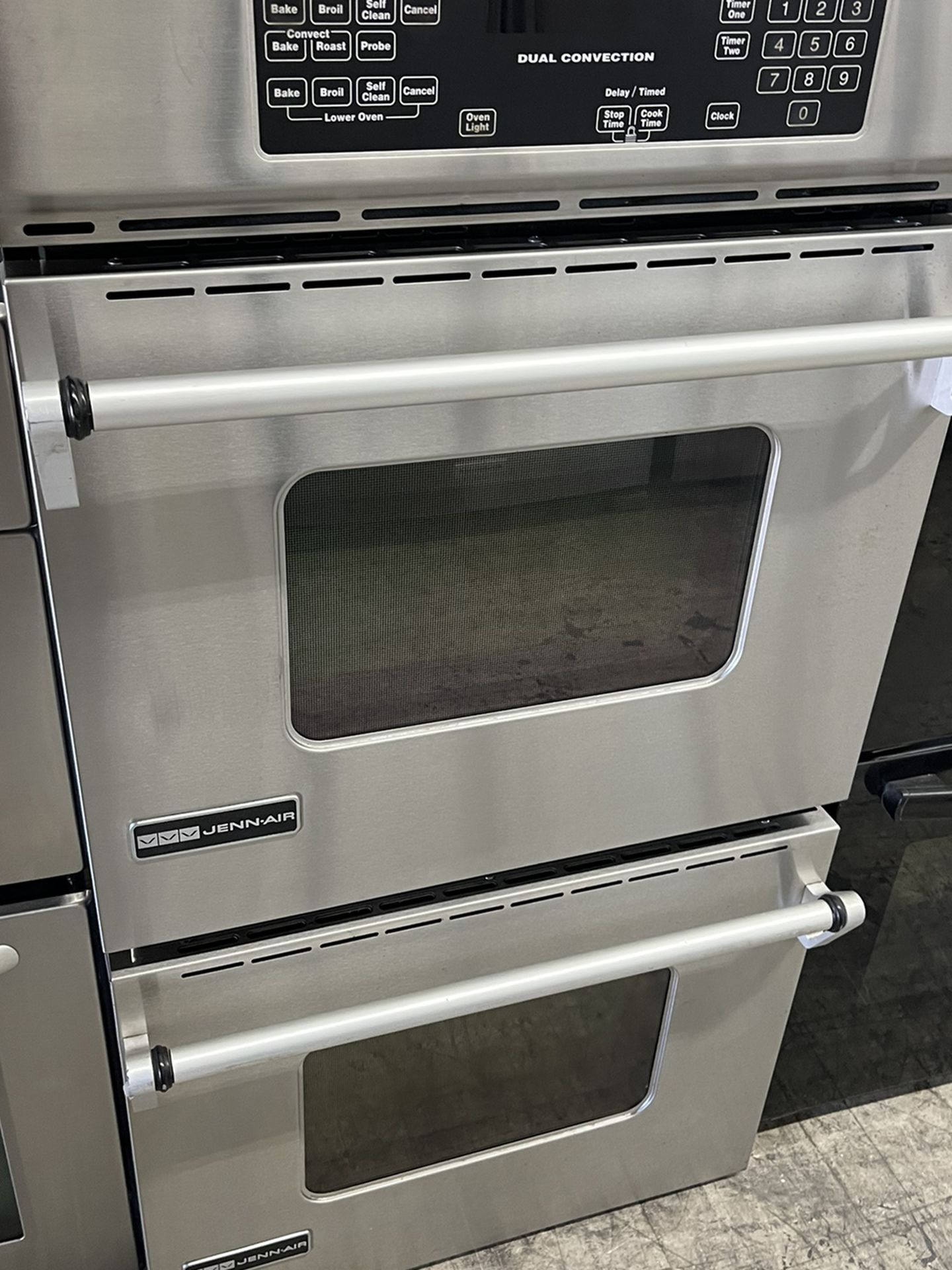 """Jennair 27"""" Double Oven In Stainless Steel Used"""