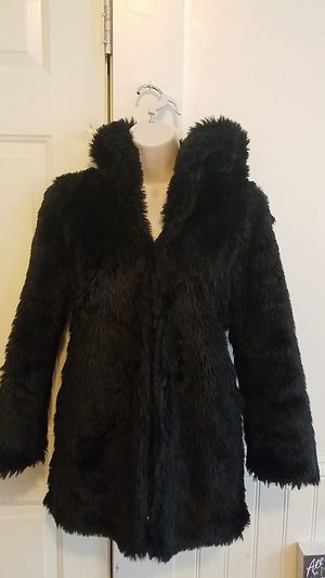 Black coat for winter with cat ears!!! for Sale in Baltimore, MD