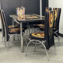 Dining Table With 6 chairs New On Box 📦..We Deliver 🚚 Thumbnail