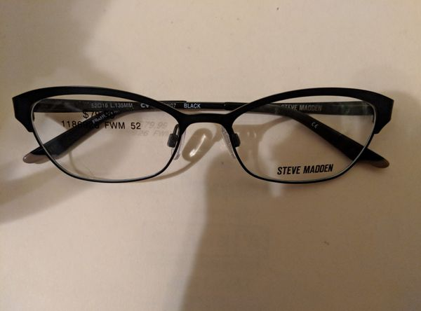 787a87a942 PRICE REDUCTION    Brand New Steve Madden Black and BLING eyeglass frames.  Durham ...