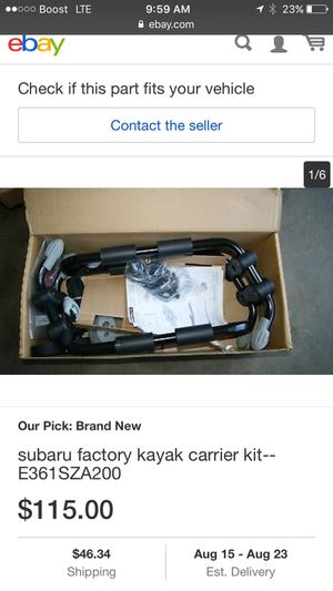 New Subaru genuine E361SXA200 kayak carrier for Sale in Falls Church, VA