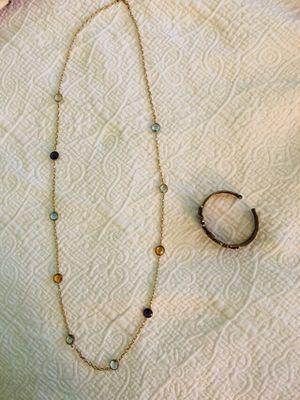 Gemstone Necklace & Bracelet Set for Sale in Leesburg, VA