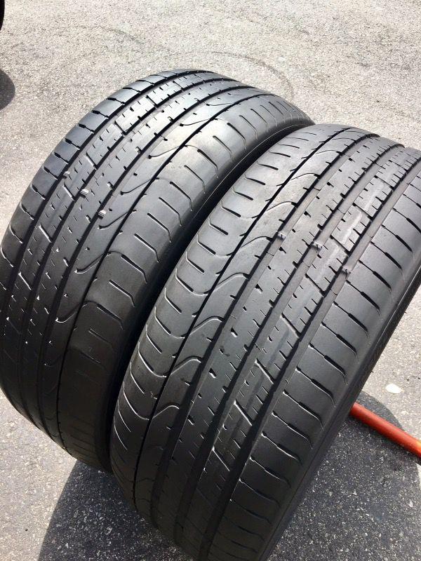 2 Used Tires 245 40r20 Pirelli P Zero Rft 245 40 20 For Sale In
