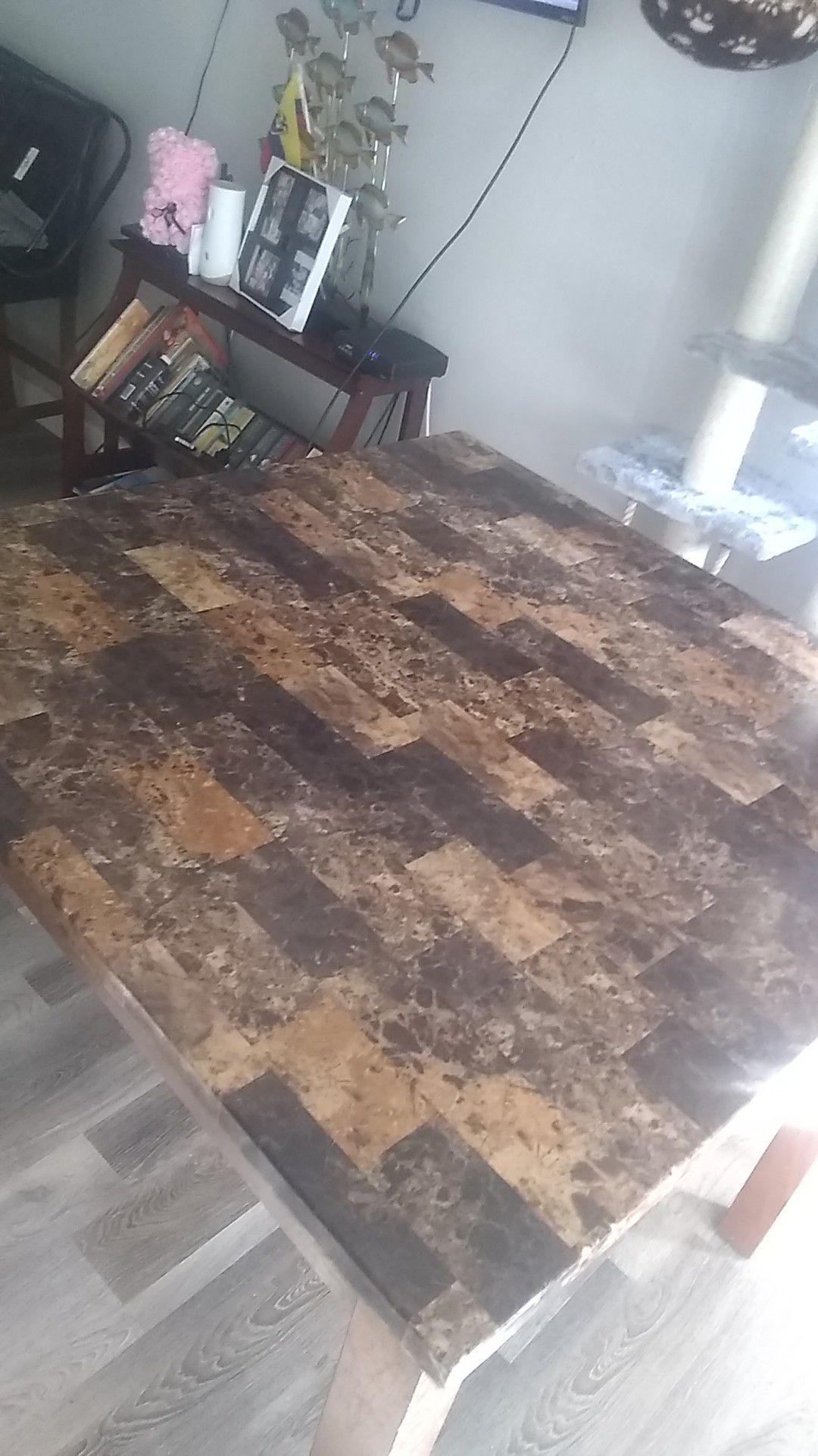 Kitchen oakwood table