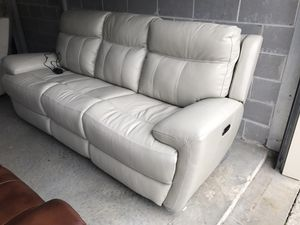 New all leather power recliner couch & Chair set. for Sale in Midlothian, VA