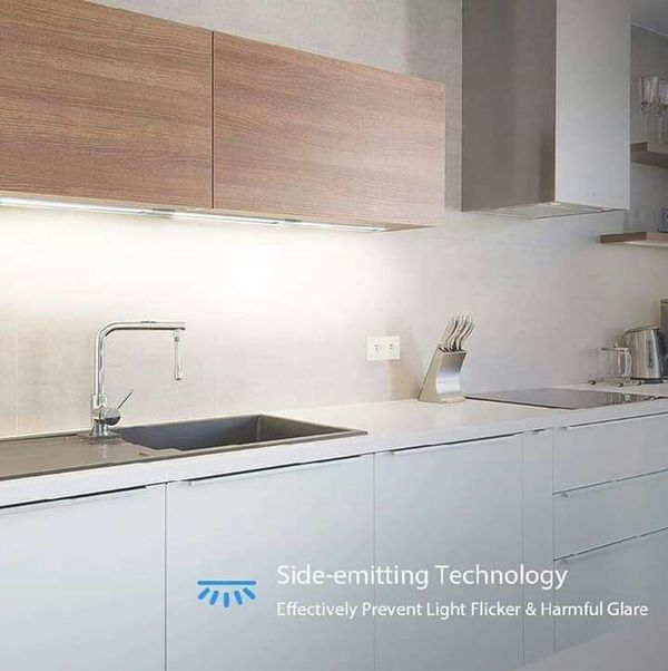 Led Under Cabinet Lighting Dimmable Cupboard Light 9w 6000k Ultra Thin Closet Bar For Kitchen Shelf Locker Show Case 3 Pack