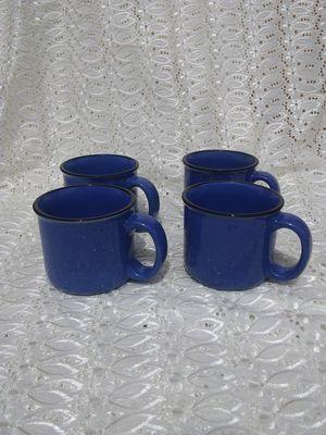 4 Vintage Blue Speckled Ceramic Cups / Mugs for Sale in Alexandria, VA