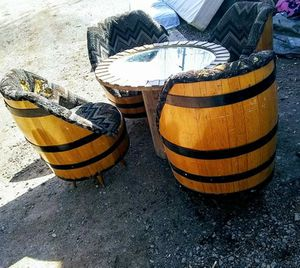 Vintage whiskey barrel chairs for Sale in Burkeville, VA