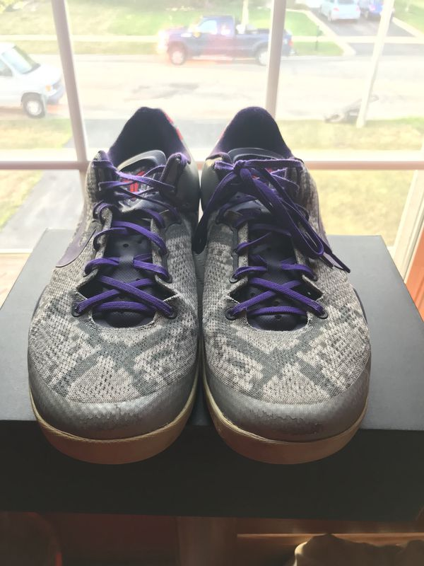 reputable site 545a7 8821f RARE Nike Kobe VIII 8 System basketball shoes Pit Viper Mine Grey size 12