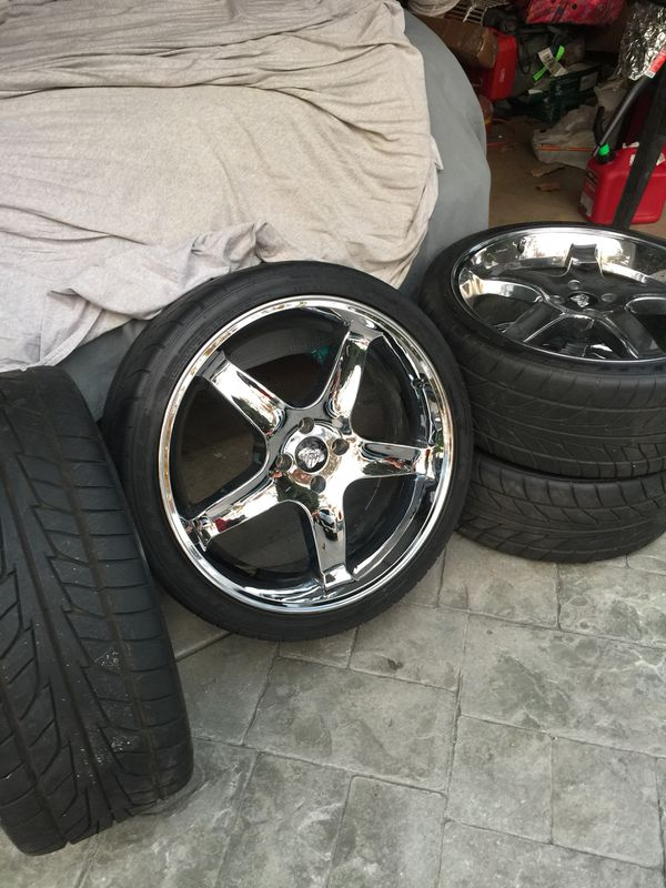 20 inch chrome cobra wheels 4 lug 5 0 mustang for Sale in Redwood City, CA  - OfferUp