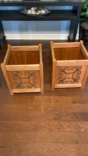 Photo Outdoor Wood Planter Boxes