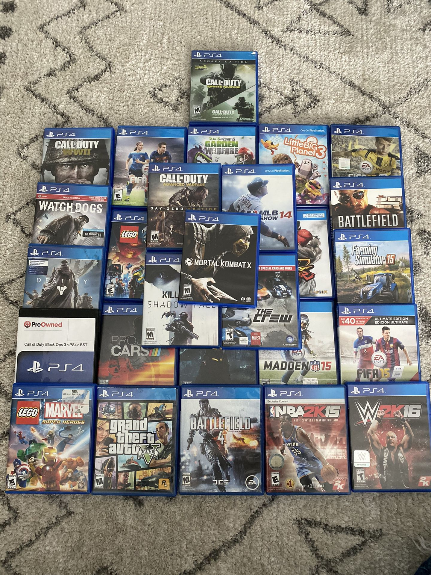 Great condition PS4 games