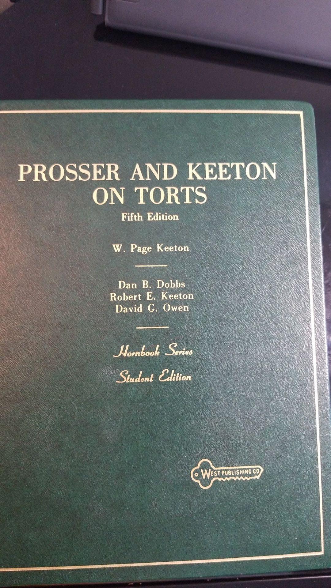 Torts hornbook