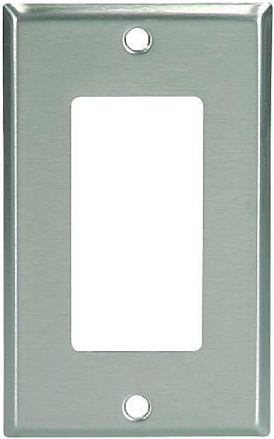 Cooper NON-MAGNETIC Stainless Steel 1-Gang Decorator Wallplate Cover GFCI GFI 93401
