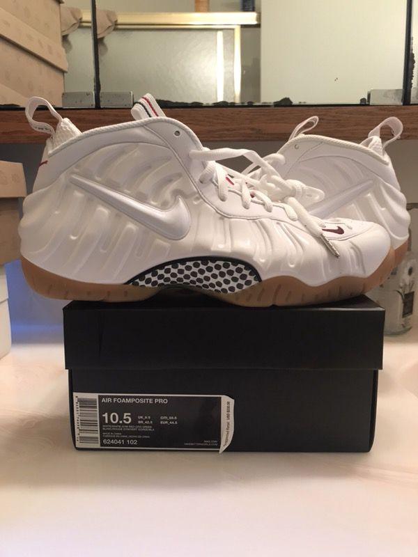 0d2505c1c60b3 New Nike Air Foamposite Pro White Gucci In Box Size 10.5 100% Authentic