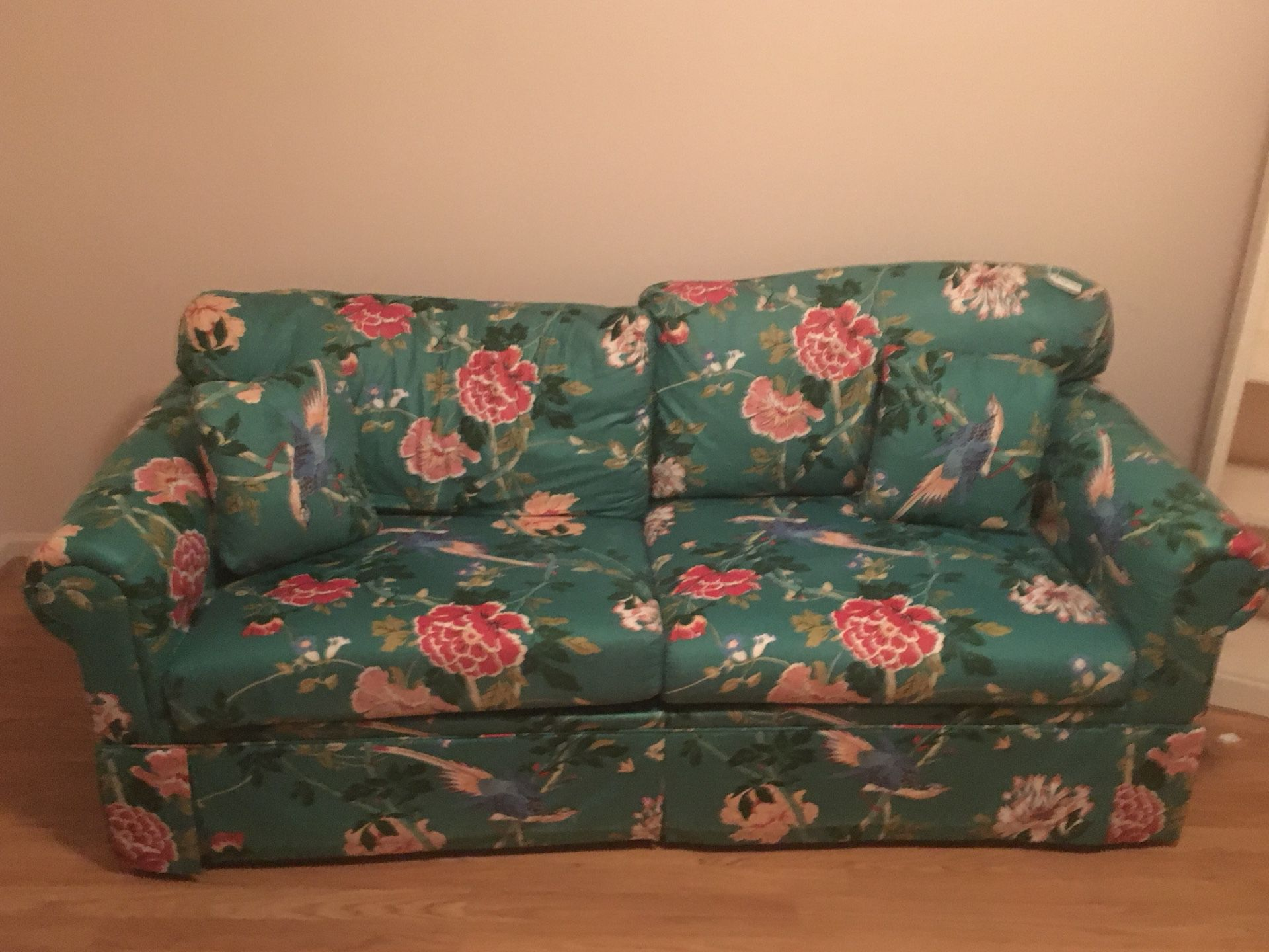Pull out sofa bed no pets no stains no smells pick up in knightdale oh must have help to load firm price 45