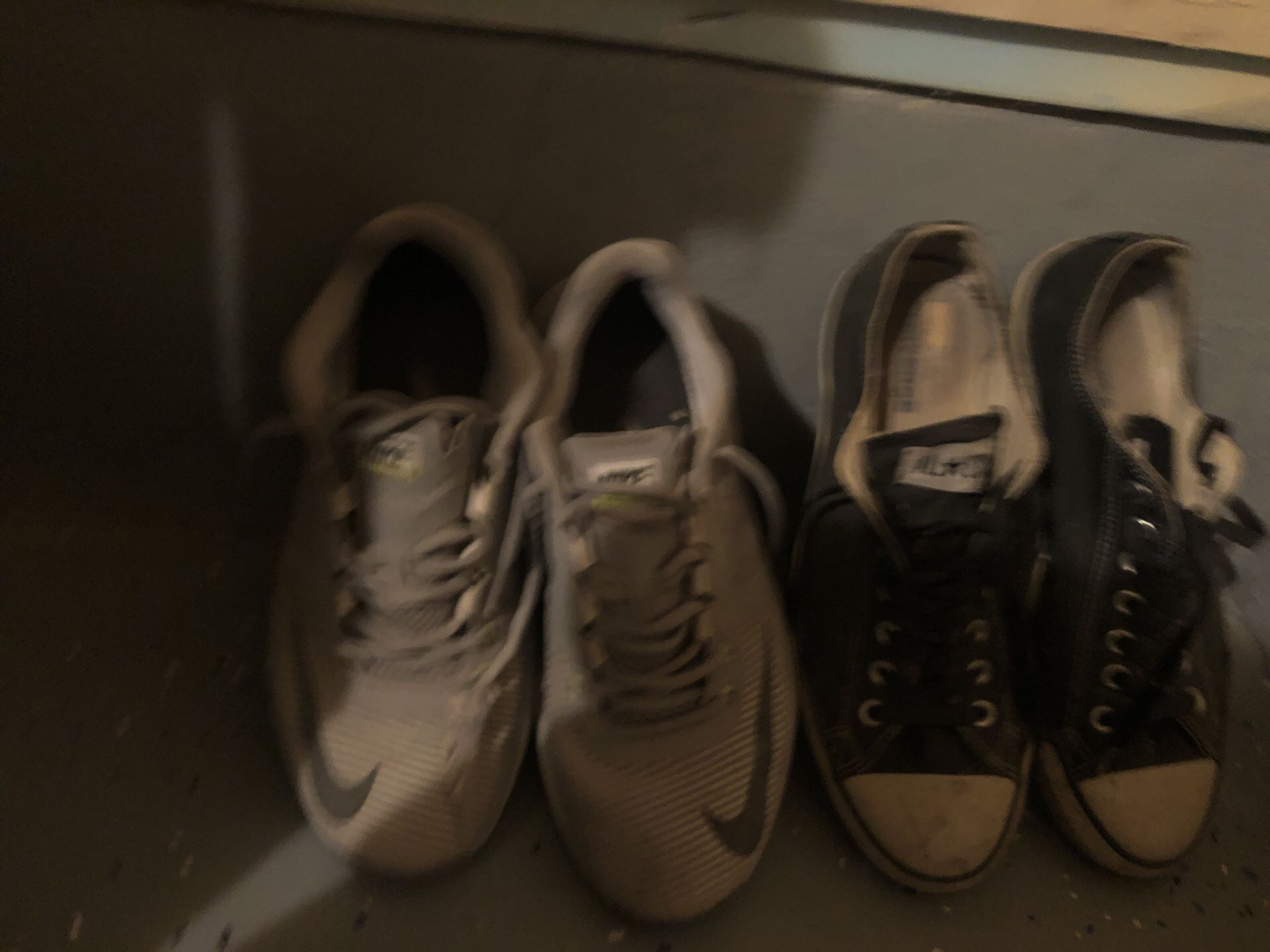 Used Nike, Adidas & converse Shoes just need cleaned been in my garage $10 each size 9-9.5