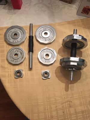Adjustable free weights total 40lb for Sale in Ashburn, VA
