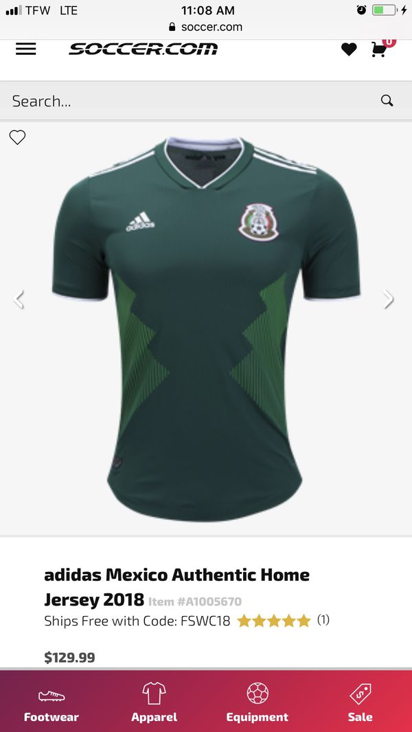 7e177b37c MEXICO HOME ADIDAS AUTHENTIC PLAYER MATCH JERSEY FIFA WORLD CUP for ...