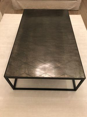 Restoration Hardware Metal Parquet Coffee Table For In Bartlett Il