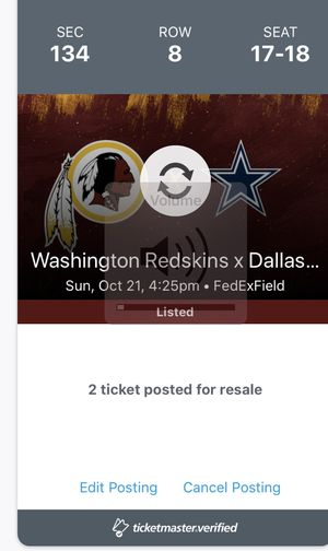 Redskins vs Cowboys for Sale in Woodbridge, VA