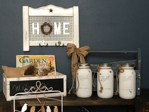 Handcrafted Caddy with Large Mason Jars! for Sale in DeBary, FL