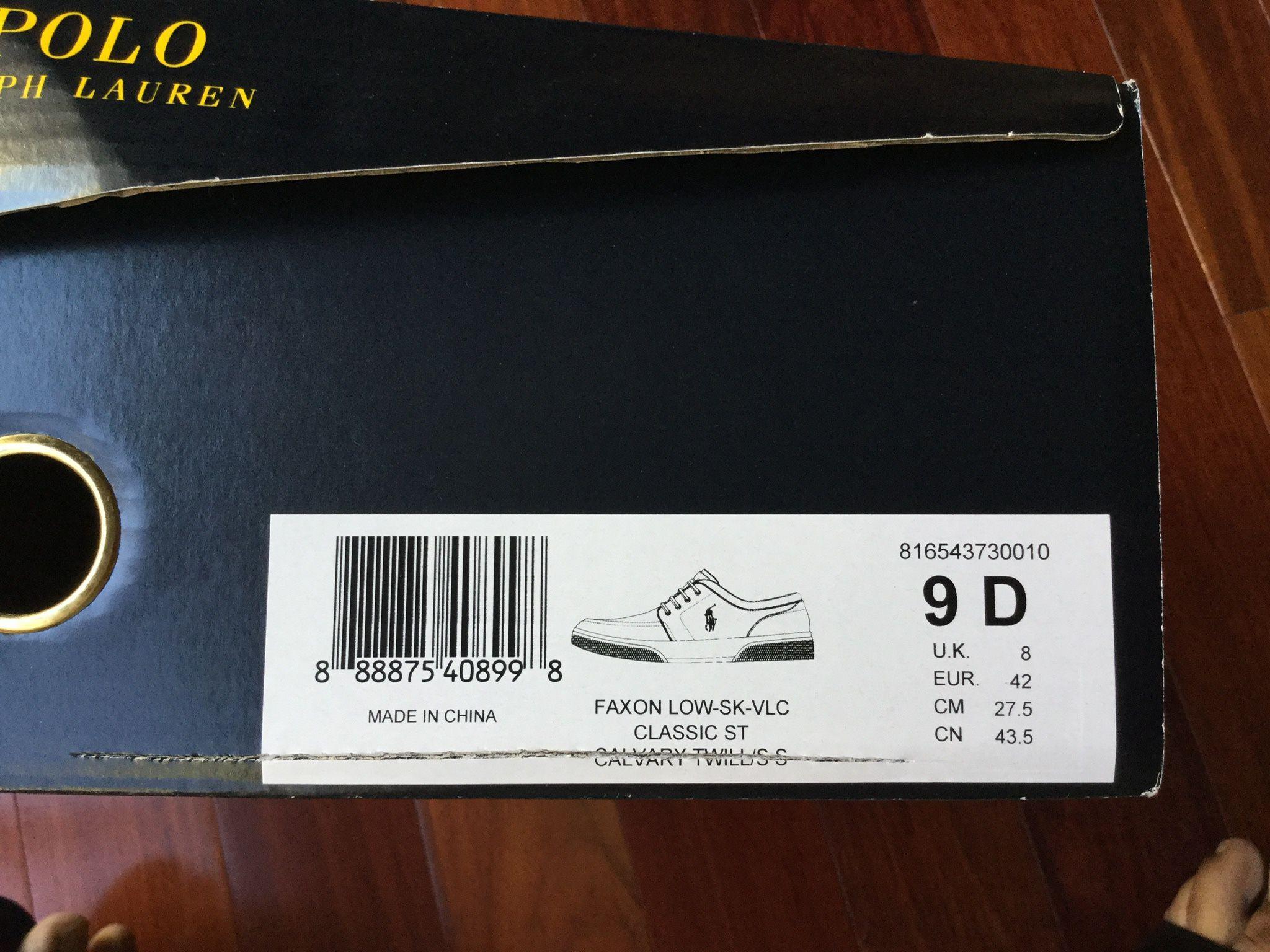 Polo Ralph Lauren Men's Shoes - Size 9