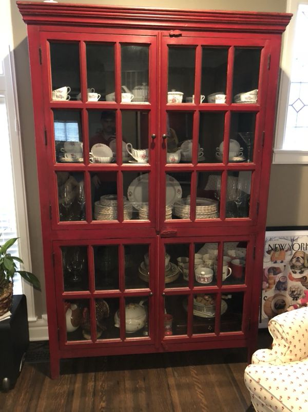 Rojo Tall Cabinet Crate Amp Barrel For Sale In
