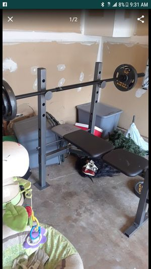 BENCH PRESS (WEIGHTS INCLUDED) for Sale in Sterling, VA