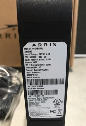 Arris model nvg468mq for Sale in Los Angeles, CA - OfferUp