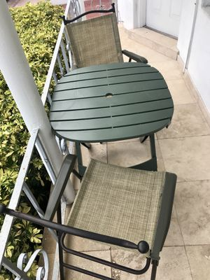 Outdoor Table + Chair for Sale in Miami Beach, FL
