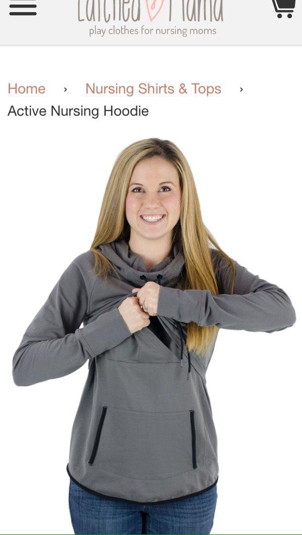 0dd2266b5cf Latched Mama Nursing Maternity Sweatshirt Shirt for Sale in Olympia ...