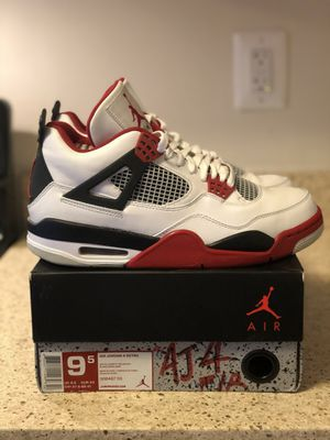 """Air Jordan Retro 4 """"Fire red"""" SZ 9.5 for Sale in Silver Spring, MD"""