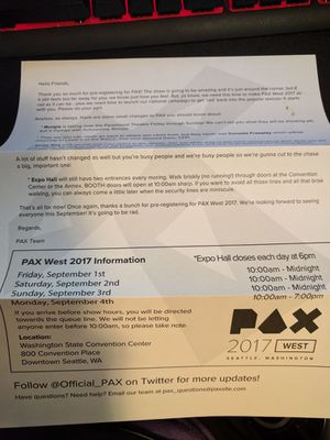 1 Friday + 1 Saturday PAX Badges for Sale in Seattle, WA