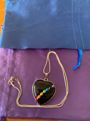 Photo Blue sand stone chakra necklace 925 silver chain brand new
