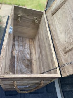 Wenzel cast iron wooden box /crate Thumbnail