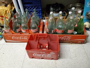 Photo Collection of Vintage Coke Dr. Pepper , Tab, Bottles, Crates, Carrier