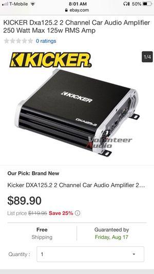 New Kicker DXA125.2 2 Channel Car Audio Amplifier 250 Watt Max 125w RMS AMP