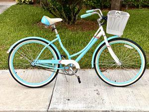 Photo Like new- Schwinn Women's Legacy 26 Cruiser Bike- Blue/White with basket
