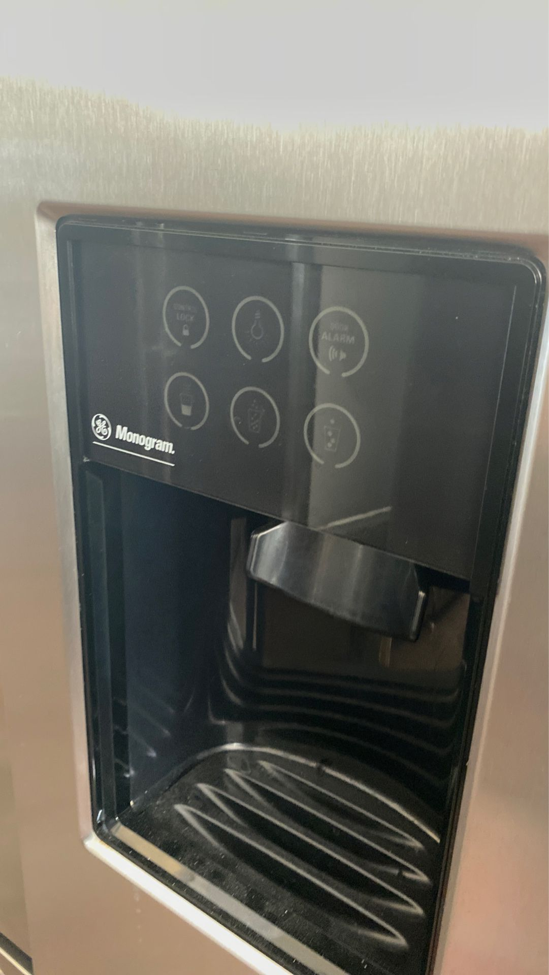 """GE monagram 42"""" built in refrigerator stainless steel"""