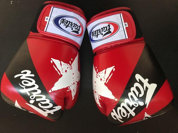 10144621b Fairtex- Muay Thai   Kickboxing Red Nations Gloves 14oz for Sale in ...