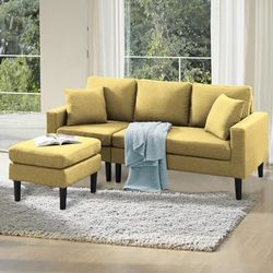 Brand New Small Yellow Sectional Thumbnail