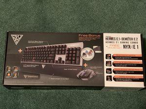 GAMDIAS Hermes E1 Gaming Keyboard & Mouse Combo with Gaming Mouse Mat for Sale in Adelanto, CA